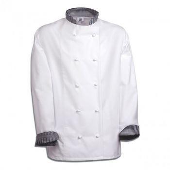 Áo Đầu Bếp Nam Được Thiết Kế Với Các Đường Nét Gọn Gàng, Phù Hợp Với Nhiều Vóc Dáng Cơ Thể Khác Nhau.