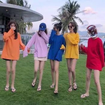 Áo Khoác Hoodie Nữ Trơn Hàn Quốc