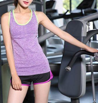 Áo Thun 3 Lỗ Tập Gym Thời Trang Cho Phái Nữ