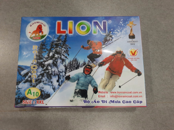 Bộ Áo Mưa 1 Lớp 2 Khóa Lion