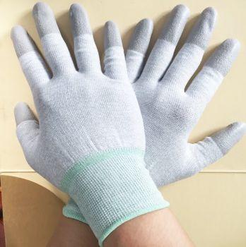 găng tay chống tĩnh điện phủ PU đầu ngón tay an toàn