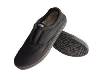 Giày Vải Bảo Hộ Màu Đen Không Dây Cột