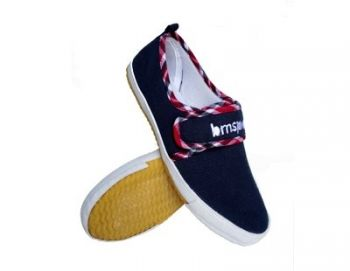 Giày Bata Vải Xanh Không Cột Dây