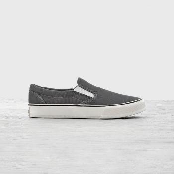 Giày Lười Vải Nam Dark Grey Hiện Đại - GVA0036