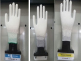 Găng tay tay phủ PU trắng lòng bàn tay- GDK0008 - 1