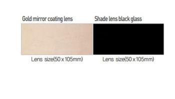 Tấm kính hàn màu đen otos pc700 hàn quốc