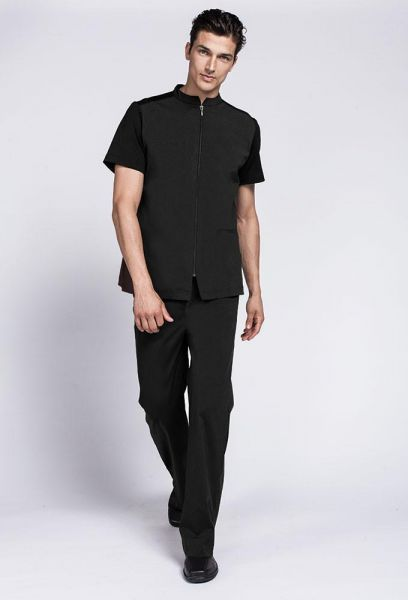 đồng phục spa cho nam thiết kế đơn giản.