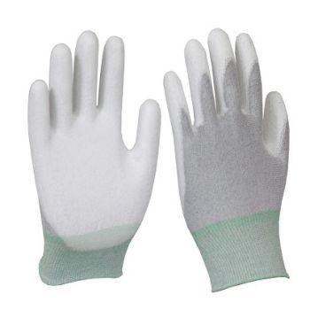 găng tay chống tĩnh điện sợi cacbon phủ lòng bàn tay