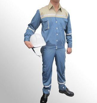 Quần áo bảo hộ lao động Pangrim Hàn Quốc màu xanh ghi
