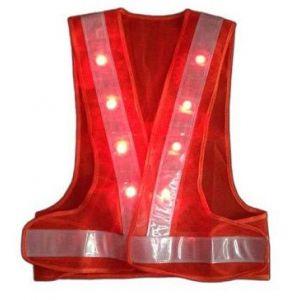 Áo Bảo Hộ Lao Động Phản Quang Có LED Màu Cam - APQ0006