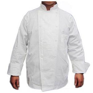 Đồng Phục Bếp Áo Kaki Cotton Trắng - ADB0001